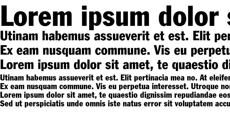 Sample of Franklin Gothic Condensed