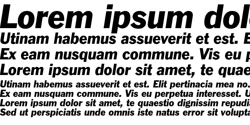 Sample of Franklin Gothic Italic