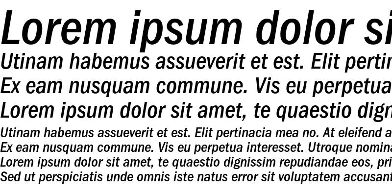 Sample of FranklinGothicMediCondOSC Italic