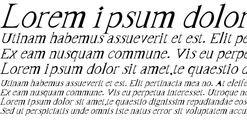 Sample of FrankTimes-Italic