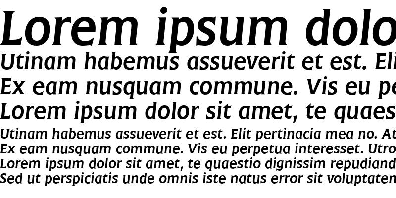 Sample of Frascati Italic