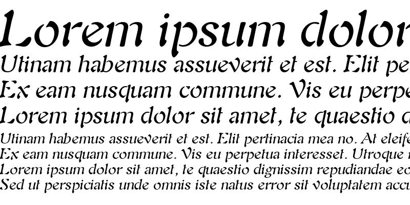 Sample of Freedom 9 Italic