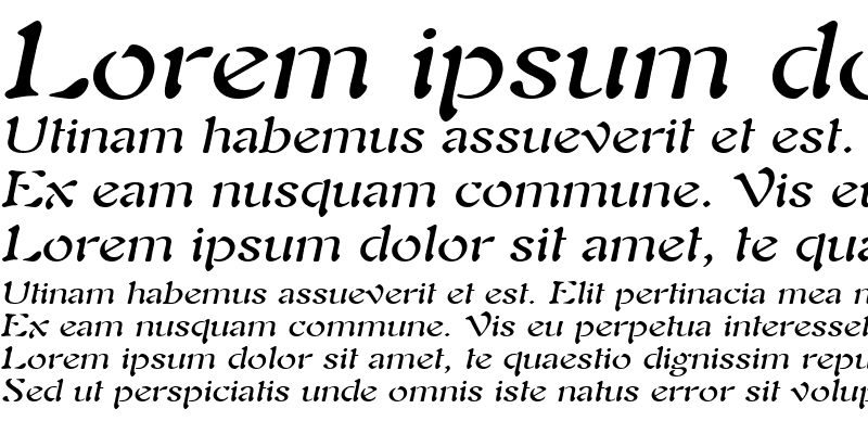 Sample of Freedom 9 Wide Italic
