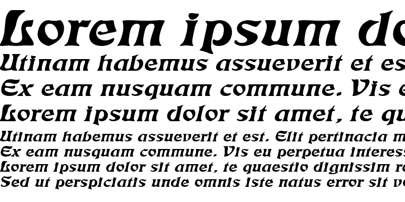 Sample of Freedom Extended Italic