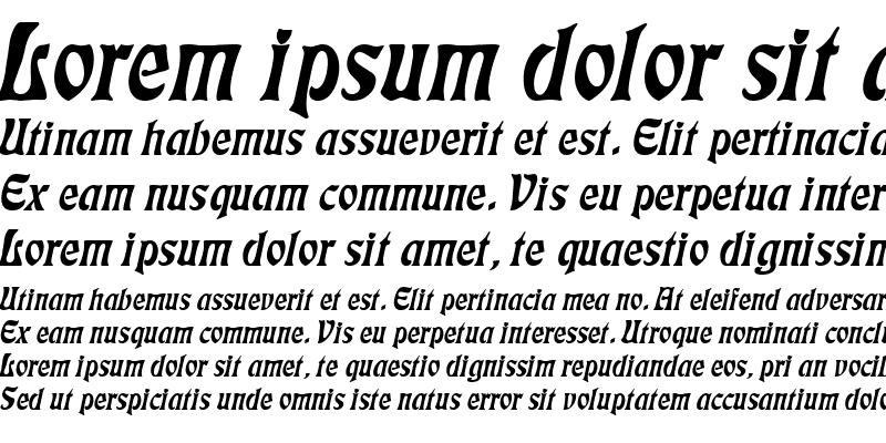 Sample of Freedom Italic