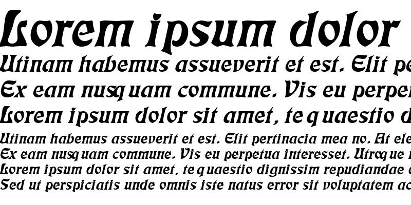 Sample of Freedom Wide Italic