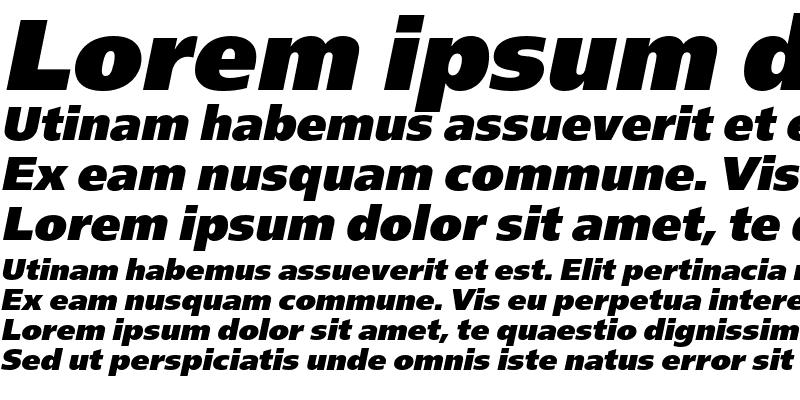 Sample of FreeSetExtraBoldC Italic