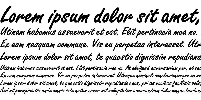 Sample of Freestyle Script EF Bold Regular