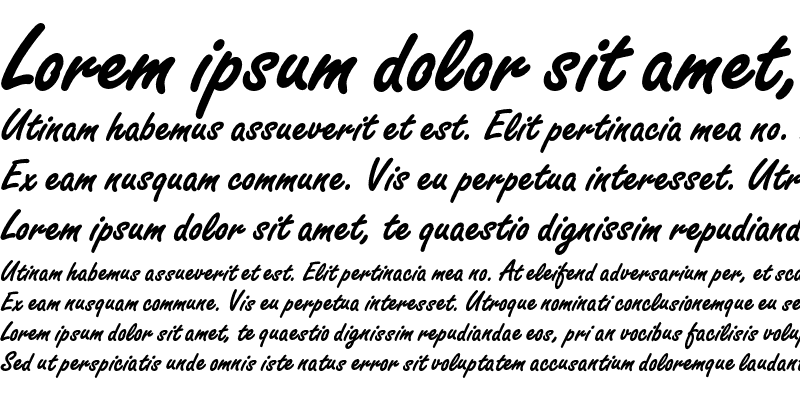 Sample of FreestyleScriptEF Bold