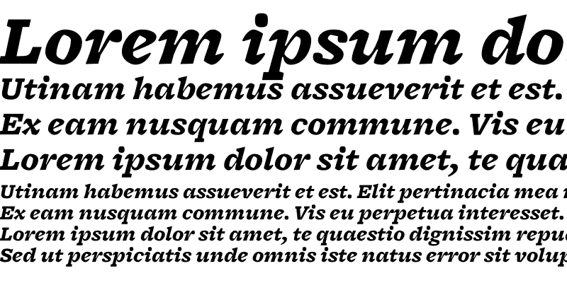 Sample of Freight Micro Black Italic