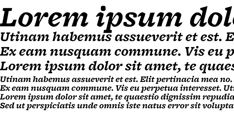 Sample of Freight Micro Bold Italic