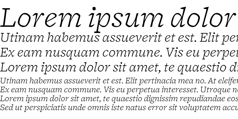 Sample of Freight Micro Light Italic