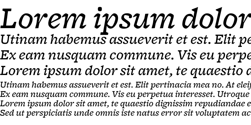 Sample of Freight Micro Medium Italic