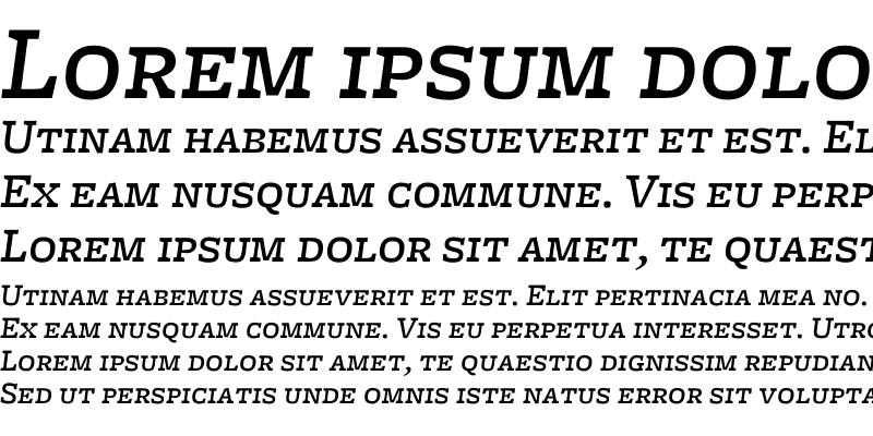 Sample of Freight Micro Medium Italic SC