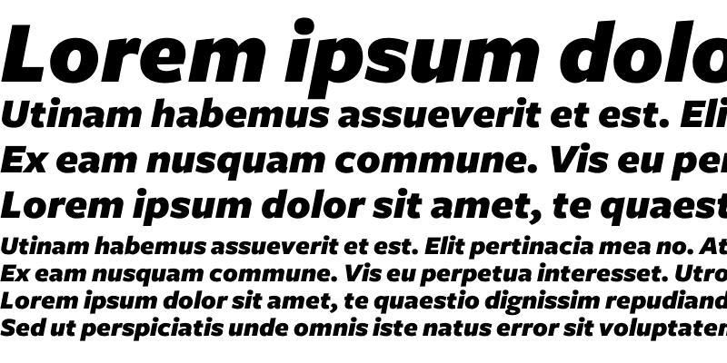 Sample of Freight Sans Black Italic