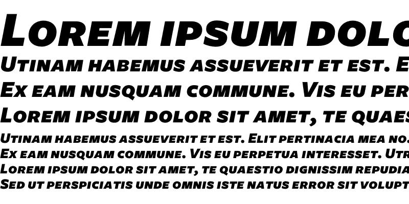 Sample of Freight Sans Black Italic SC