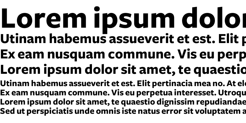 Sample of Freight Sans Bold