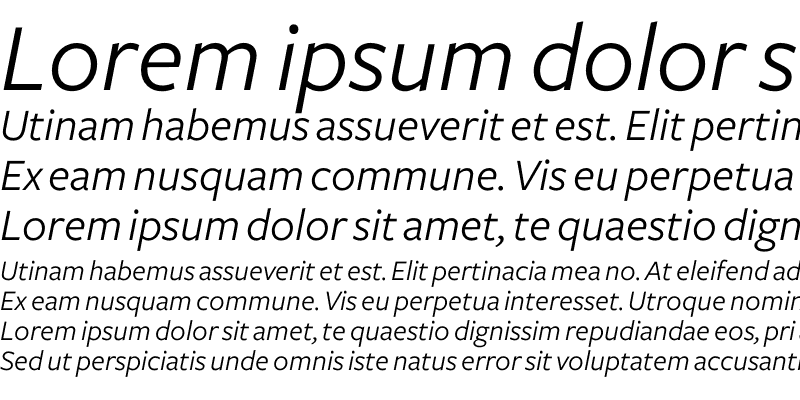 Sample of Freight Sans Book Italic