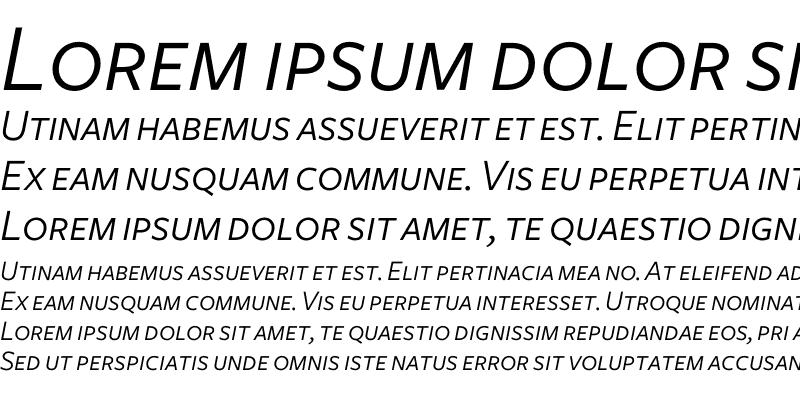 Sample of Freight Sans Book Italic SC