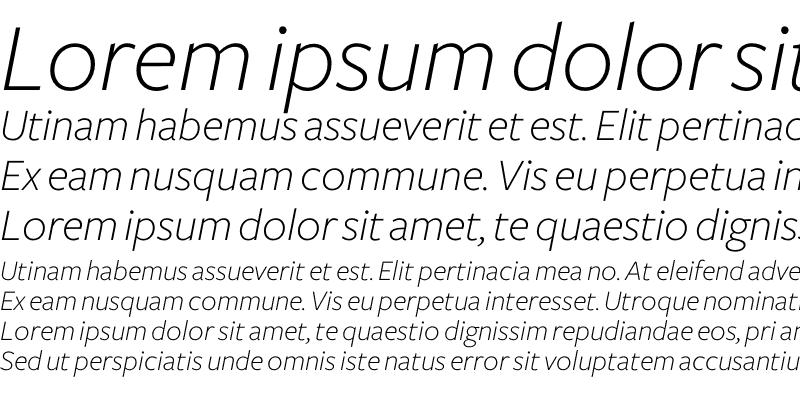 Sample of Freight Sans Light Italic