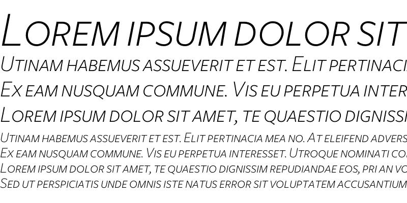 Sample of Freight Sans Light Italic SC