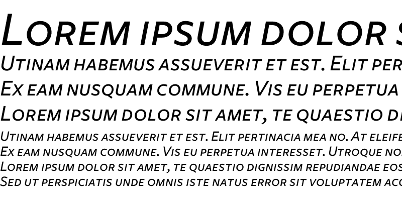 Sample of Freight Sans Medium Italic SC
