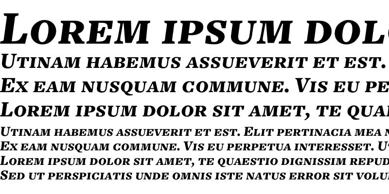 Sample of Freight Text Black Italic SC