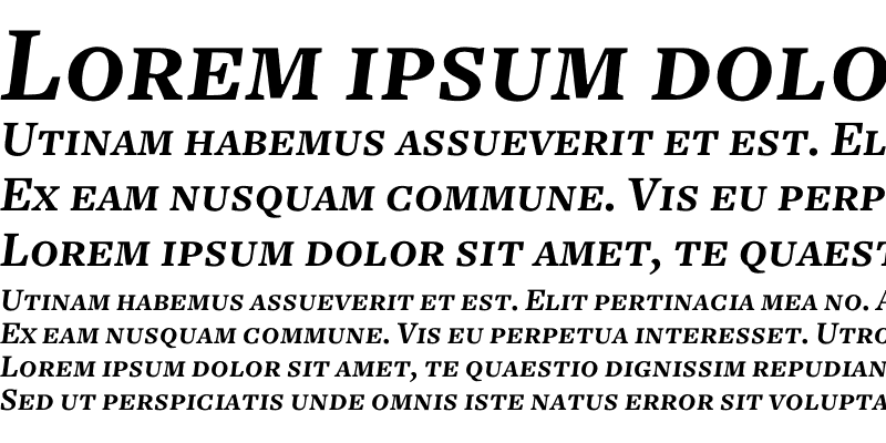 Sample of Freight Text Bold Italic SC