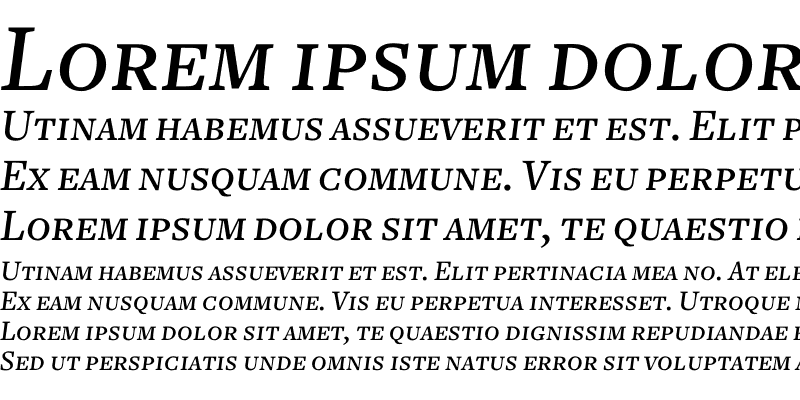 Sample of Freight Text Medium Italic SC