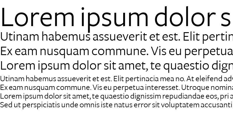 Sample of FreightSans