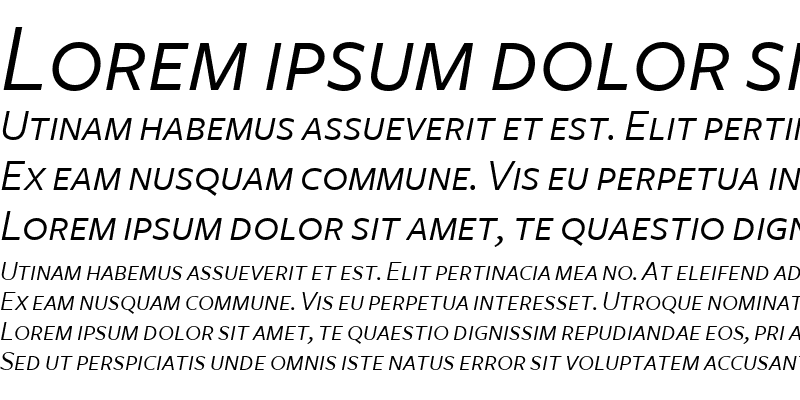 Sample of FreightSans BookItalicSC