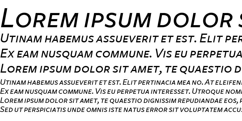 Sample of FreightSans MediumItalicSC