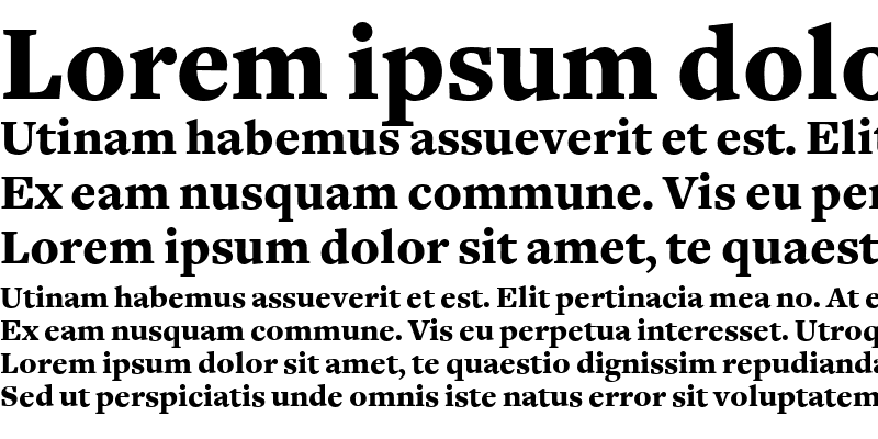 Sample of FreightText Black