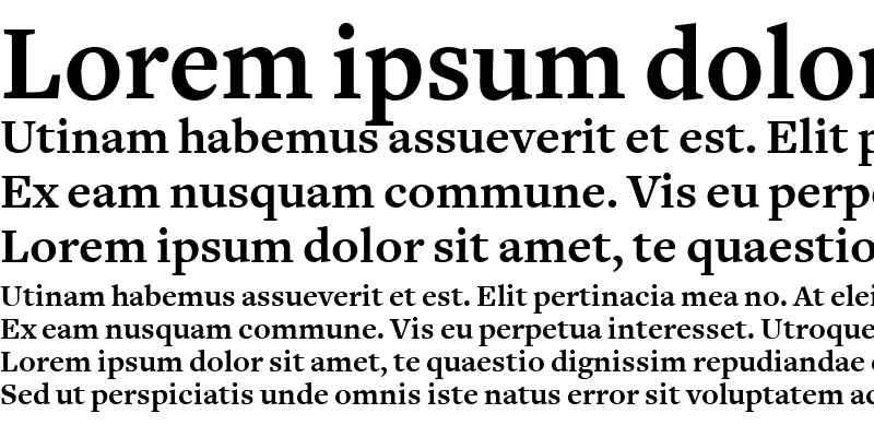 Sample of FreightText Bold