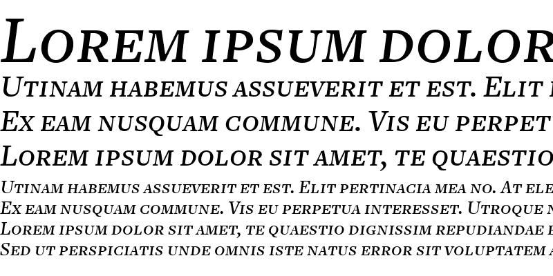 Sample of FreightText MediumItalicSC