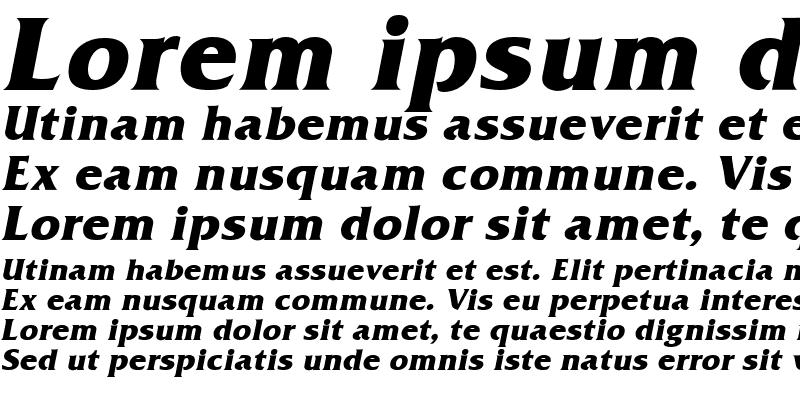 Sample of Frit-Qat Bold-Italic