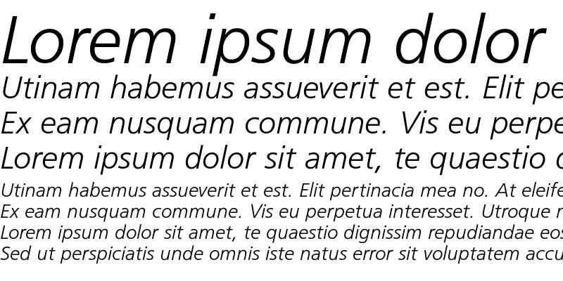 Sample of FrugalSans-LightItalic