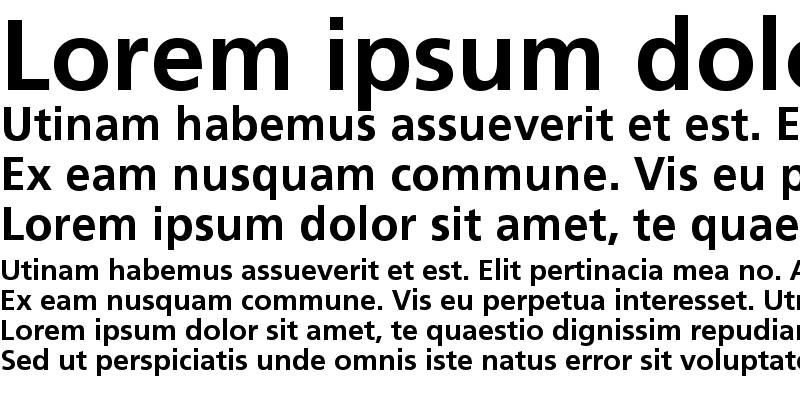 Sample of Frutiger Linotype Bold