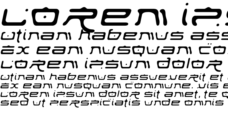 Sample of Fufanu Italic