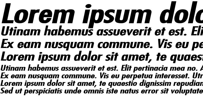Sample of Fuji Extended Bold Italic