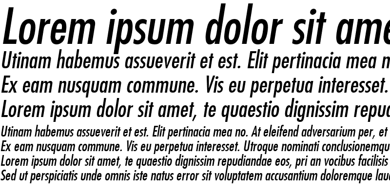 Sample of Fujiyama Italic