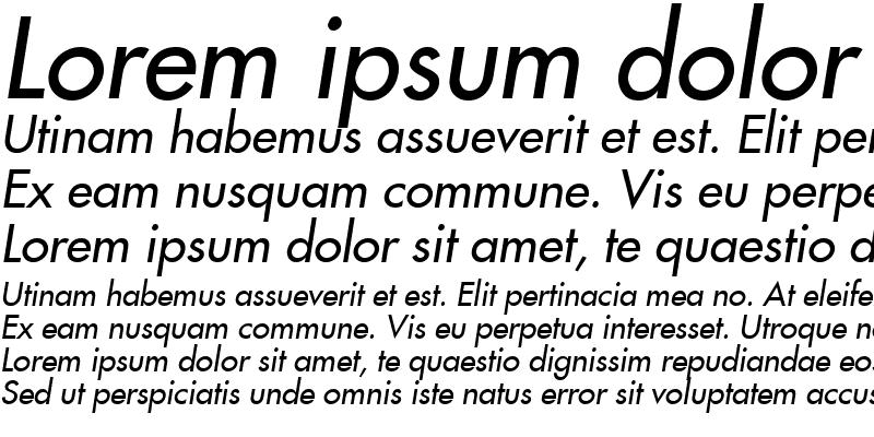 Sample of Fujiyama2 Italic
