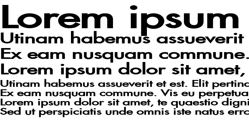 Sample of Fusi Extended Bold