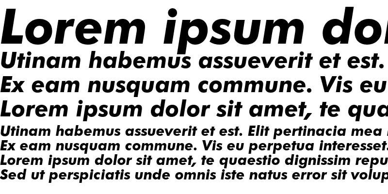 Sample of Futura Bold Italic