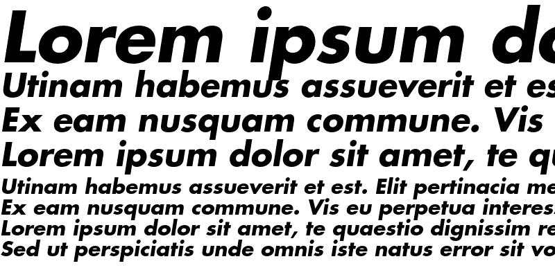Sample of Futura Bold Oblique