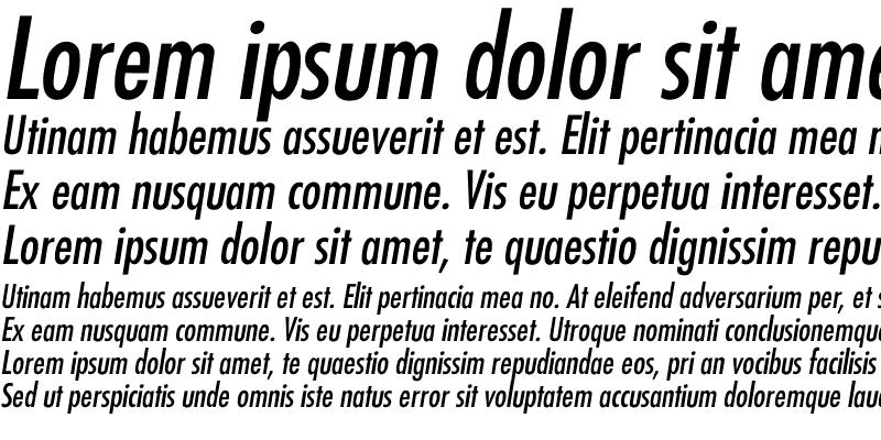 Sample of Futura-Condensed-Italic