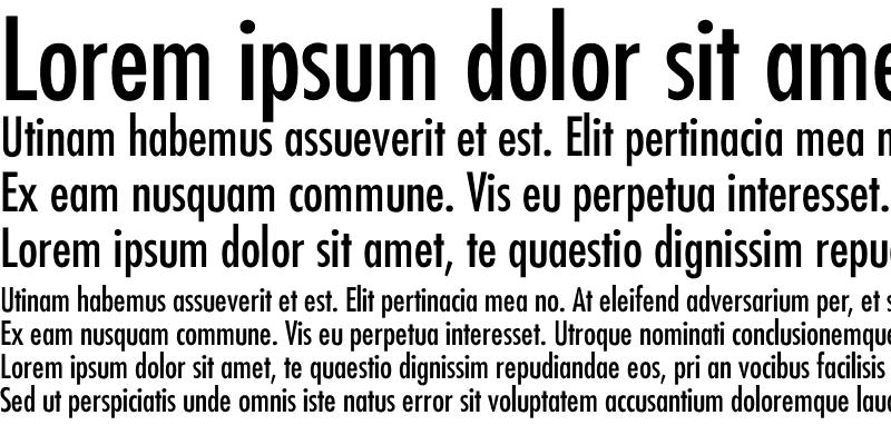 Sample of Futura-Condensed-Normal
