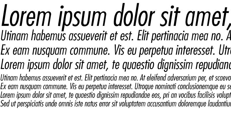 Sample of Futura-CondensedLight-Italic