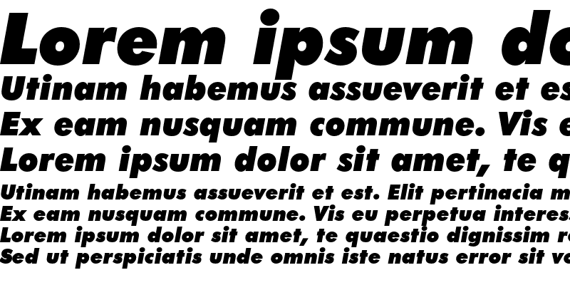 Sample of Futura Extra Black Italic