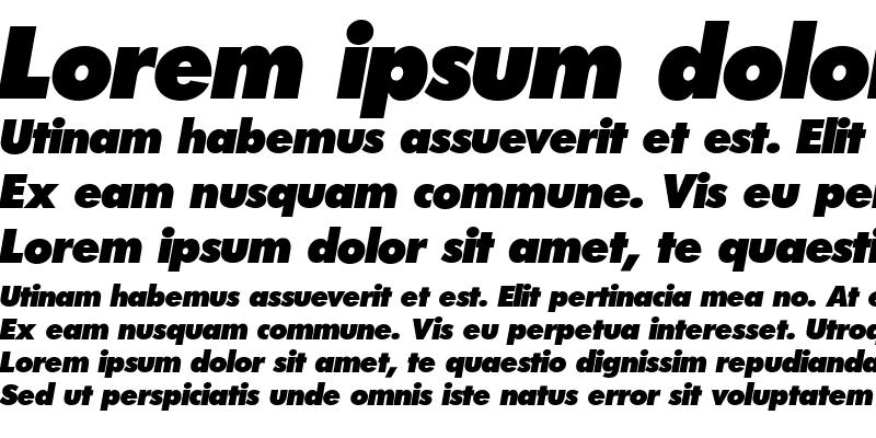 Sample of Futura-ExtraBoldItalic
